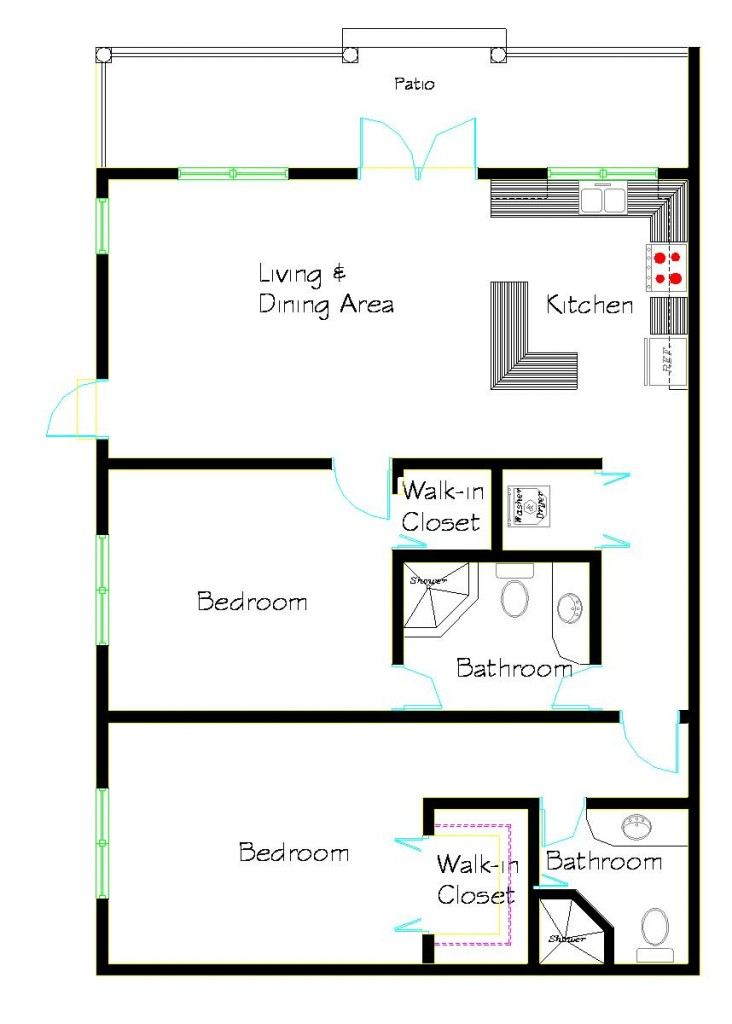 2bedlapart 732x1024 Sophisticated 2 Bedroom, 2 Bath Apartment #4
